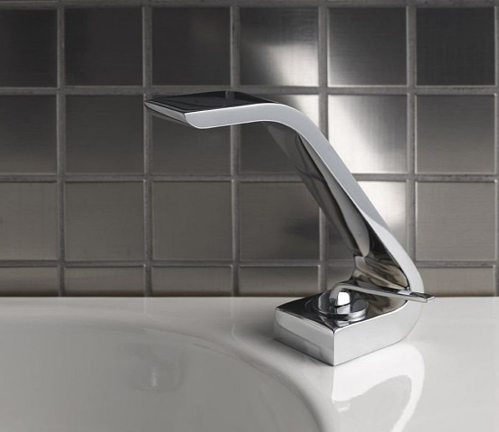 Unusually Shaped Contemporary Taps – Wolo from Webert