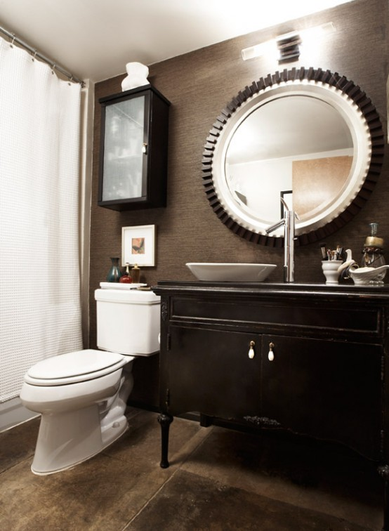organized bathroom storage is as important for masculine bathrooms