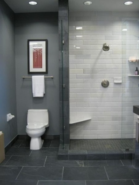 97 stylish truly masculine bathroom d cor ideas digsdigs for Focal point flooring