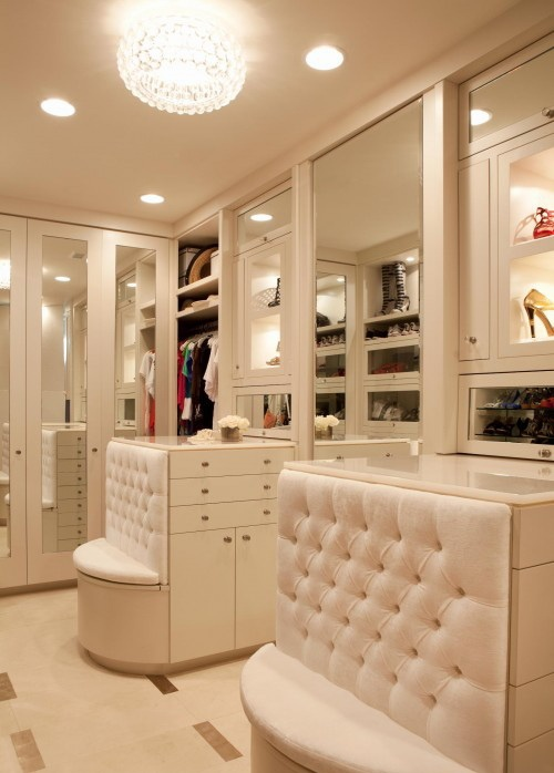 Everything in a closet has to be clear and bright so install enough light fixtures to make that happen.