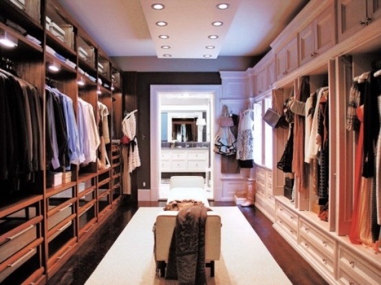 LED lights is a subtle, practical and energy-efficient way to highlight things in your closet.