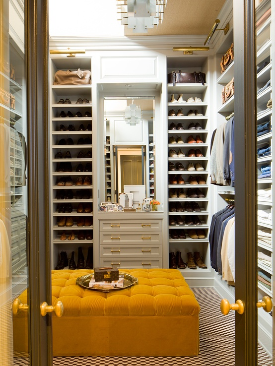 Floor to ceiling closet furniture is a perfect way to use all available space.