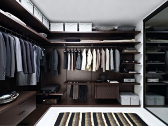 100 stylish and exciting walk in closet design ideas for Men s walk in wardrobe
