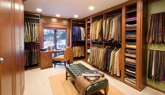 A closet of a stylish man should be a place where everything is in its place.