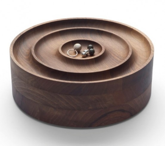 Stylish Walnut Jewellery Case