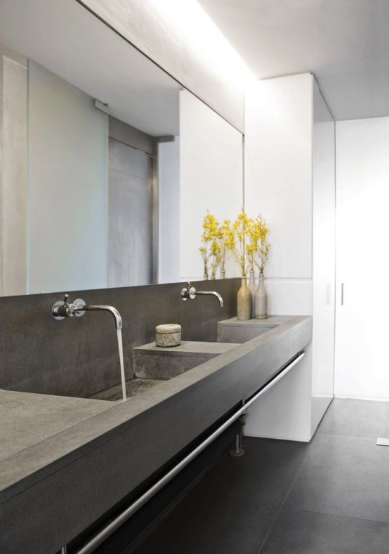 Stylish Ways To Use Concrete In Your Bathroom