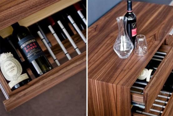 Stylish Wine Credenza For Wine Conoisseurs