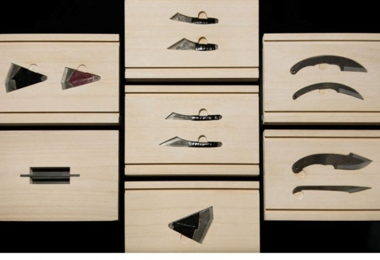 Stylish Wooden Knife Box