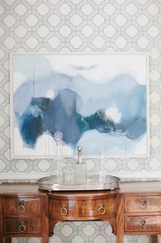 Subtle And Delicate Watercolor Home Decor Ideas