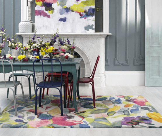 Subtle Watercolor Rugs Collection By Bluebellgrey