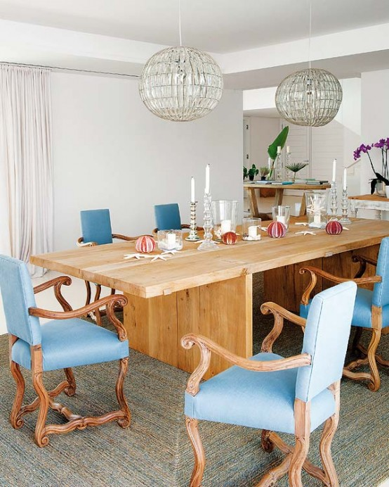 Summer House With Shabby Chic Furniture And Sea Touches