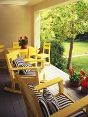 Sunny Patio Deck For A Small Party