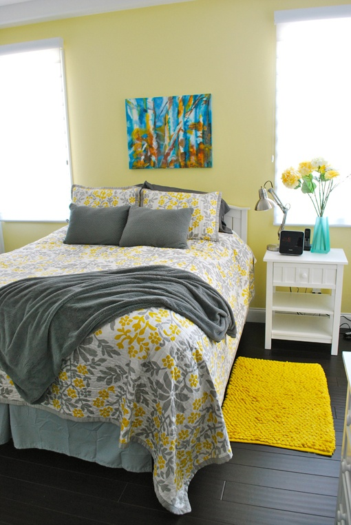 Sunny Yellow Accents In Bedrooms
