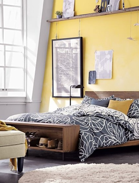 Sunny Yellow Accents In Bedrooms - 49 Stylish Ideas - DigsDigs
