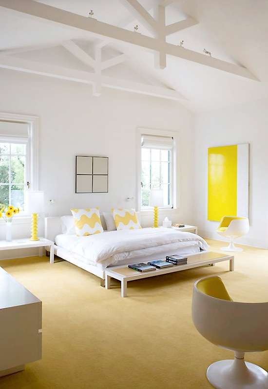Sunny Yellow Accents In Bedrooms – 49 Stylish Ideas