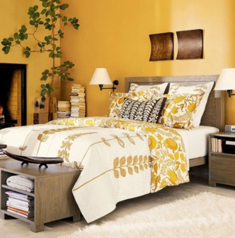 Sunny yellow accents in bedrooms 49 stylish ideas digsdigs for Bedroom yellow paint