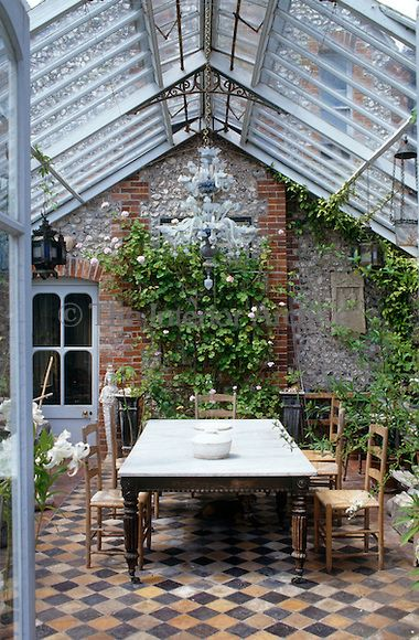 Simple sunroom extension of the house. Perfect for relaxing outdoors without actually being there.