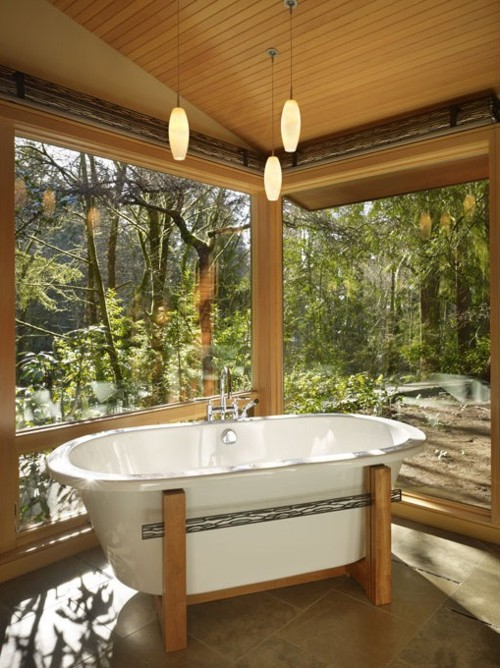 If you live far from your neighbours then you can build a sunroom bathroom.