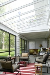 Sunroom With A Polycarbonate Clear Roof