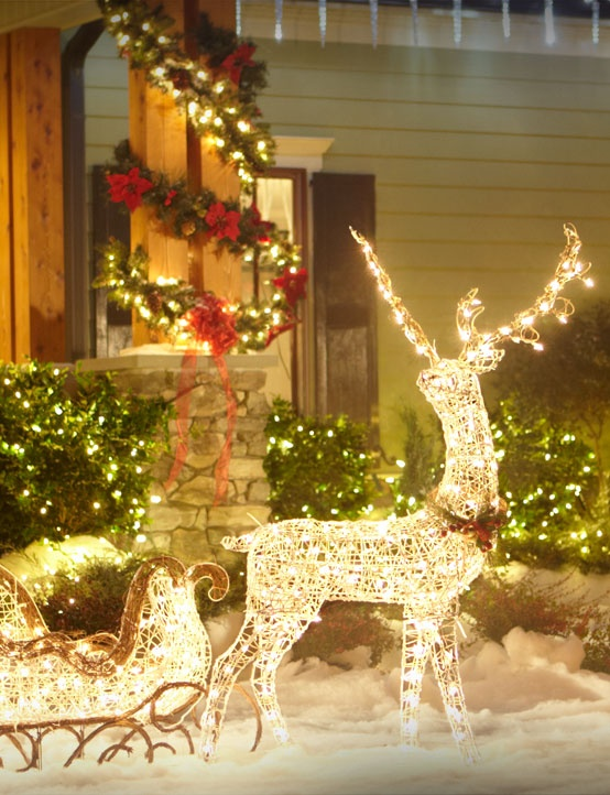 picture of super cool outdoor decor ideas with christmas