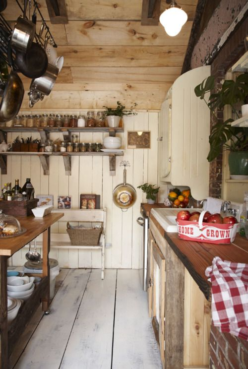 38 Super Cozy And Charming Cottage Kitchens - DigsDigs on Rustic:fkvt0Ptafus= Farmhouse Kitchen  id=30622