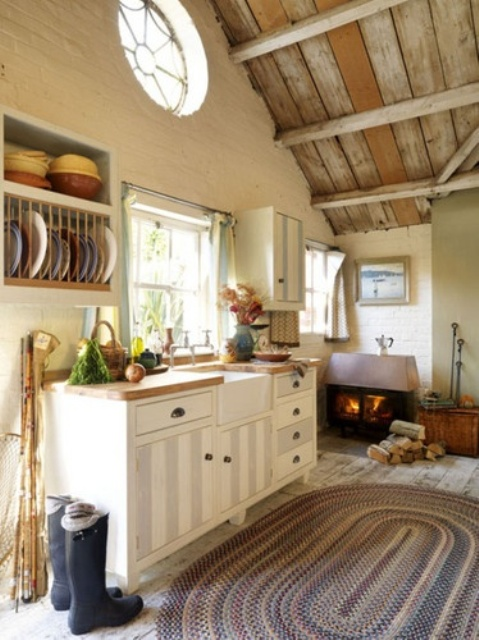 38 super cozy and charming cottage kitchens interior for Country cottage kitchen ideas