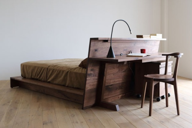 Super functional hirashima furniture collection for small - Bedside tables small spaces decor ...