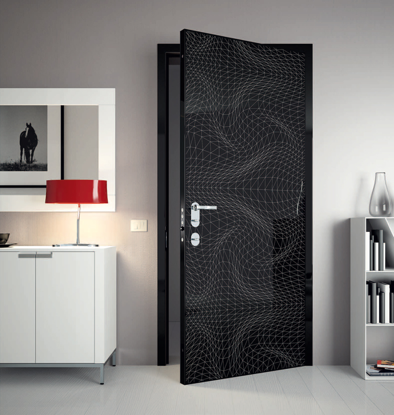 Super Modern Interior Doors With Cool Graphic And Colors~