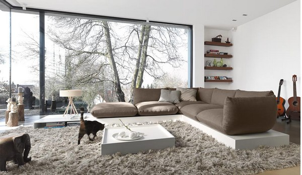 Super Modern Living Room With A Thrilling View