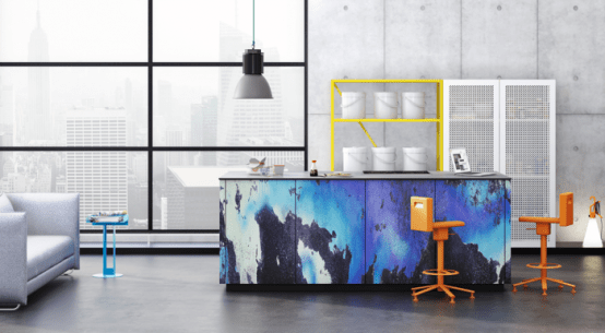 Super Modern Patterned Loft Kitchen Designs By Neo