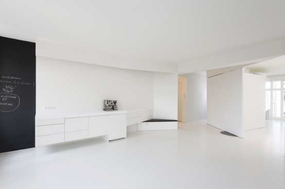 Clear White Apartment Interior