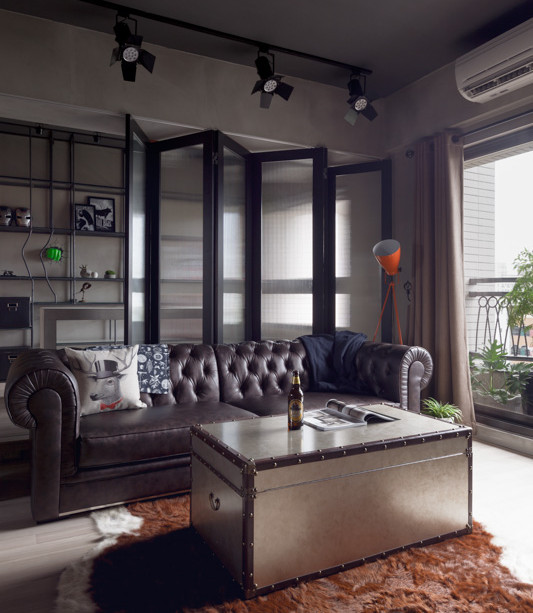 Masculine Interior Decorating: Superhero-Inspired Apartment With Industrial Touches