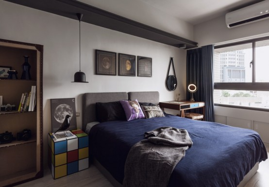 Superhero Inspired Apartment With Industrial Touches