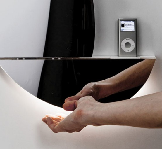 Supermodern Mirror With Iphone Ipod Docking Station