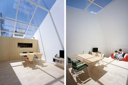surrealistic house interior
