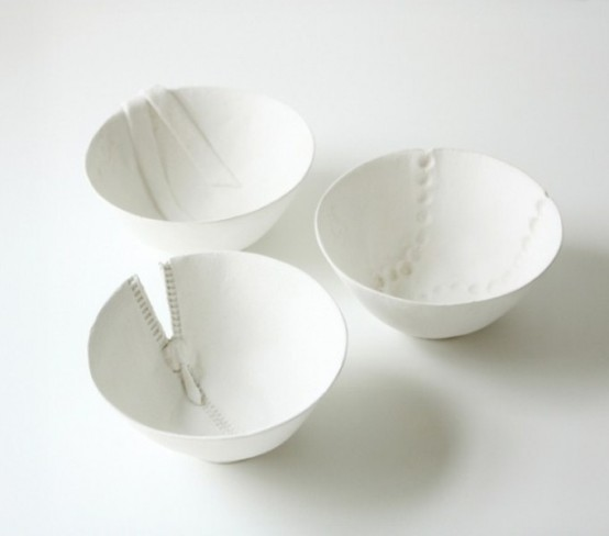 Surrealistic Tableware Collection Imitating Clothes
