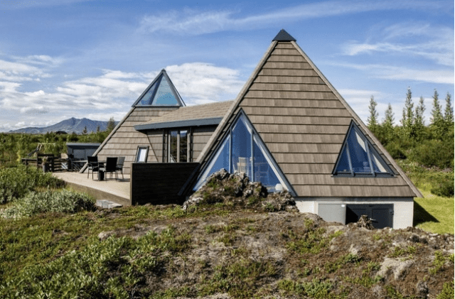 Picture Of sustainable and airy pyramid cottage in iceland  1