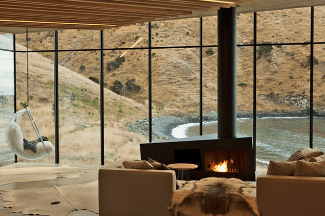 Sustainable Oceanfront Cabin On Volcanic Mountainside