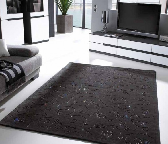 Glamour Wool Carpets Encrusted With Swarowski Crystals