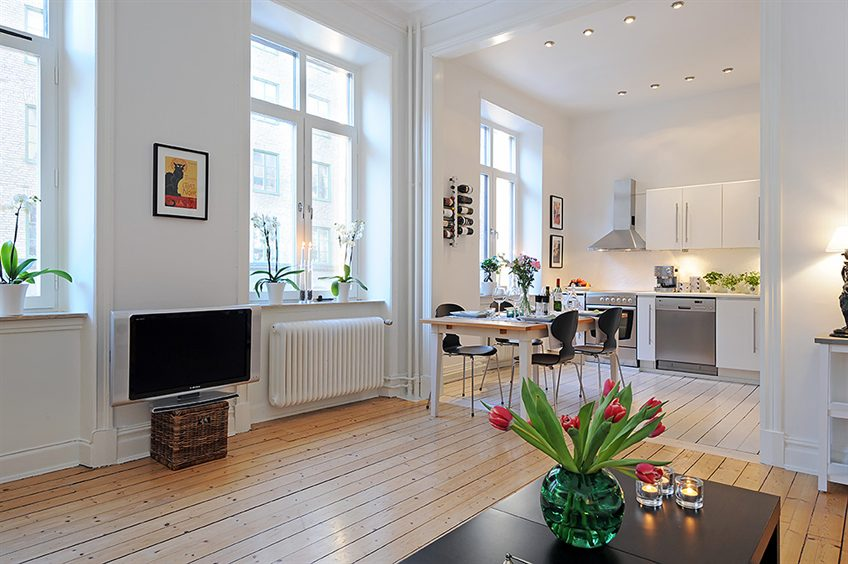 interior design collection: Swedish 58 Square Meter Apartment ...