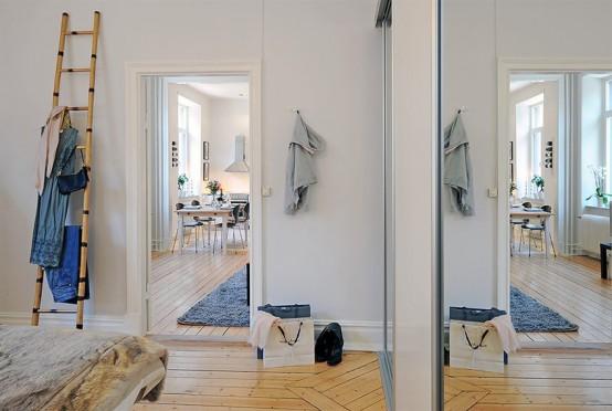 Swedish Apartment Design With Open Floor Plan