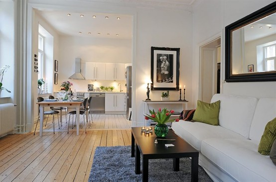 Swedish Apartment Design With Open Floor Plan