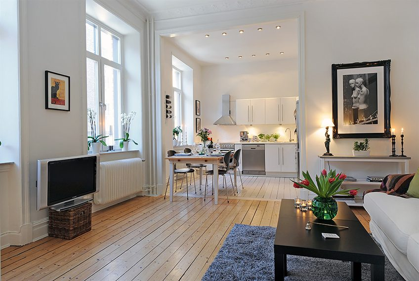 Swedish 58 square meter apartment interior design with for Dep decoration interieur