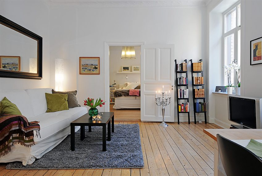 Swedish 58 Square Meter Apartment Interior Design with Open Floor Plan ...