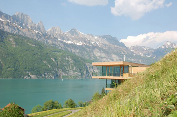 Contemporary Wooden House On Shores of Lake