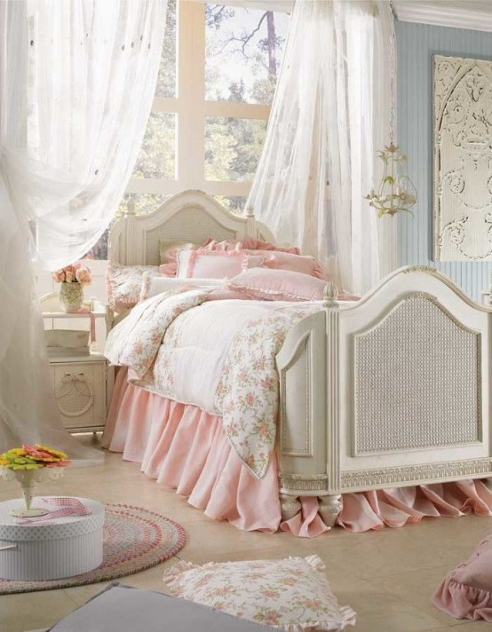 33 sweet shabby chic bedroom d cor ideas digsdigs On bedroom inspiration shabby chic