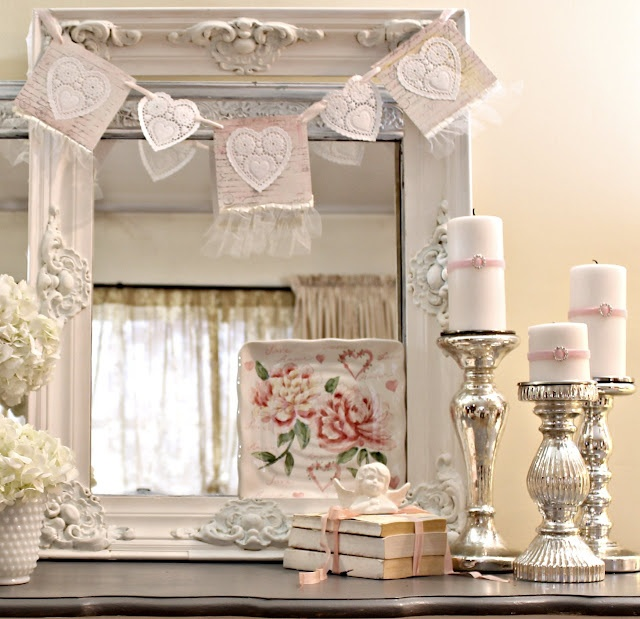 Valentine Gift Idea 2 Home Decor Frame Layout: 40 Sweet Shabby Chic Valentine's Day Décor Ideas