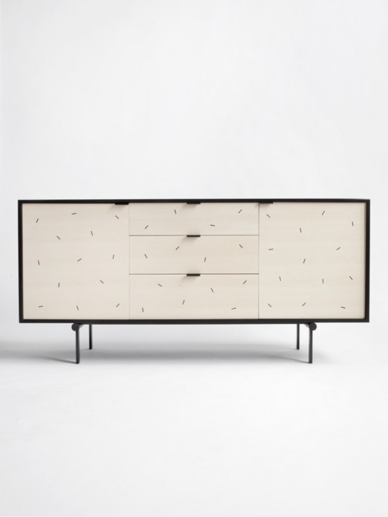 Sweet Tooth Twist: Playful Confetti Credenza