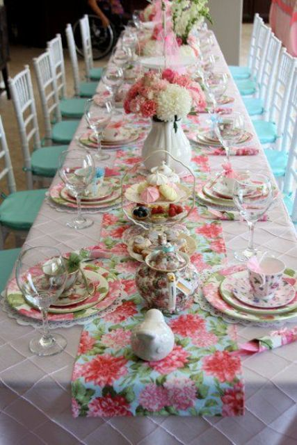 37 sweetest baby shower table settings to get inspired for Kitchen tea table setting ideas
