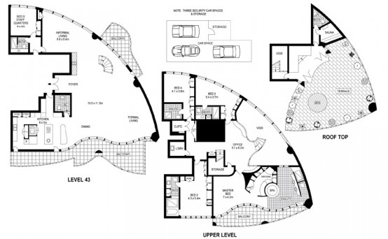 sydney luxury apartment floor plan
